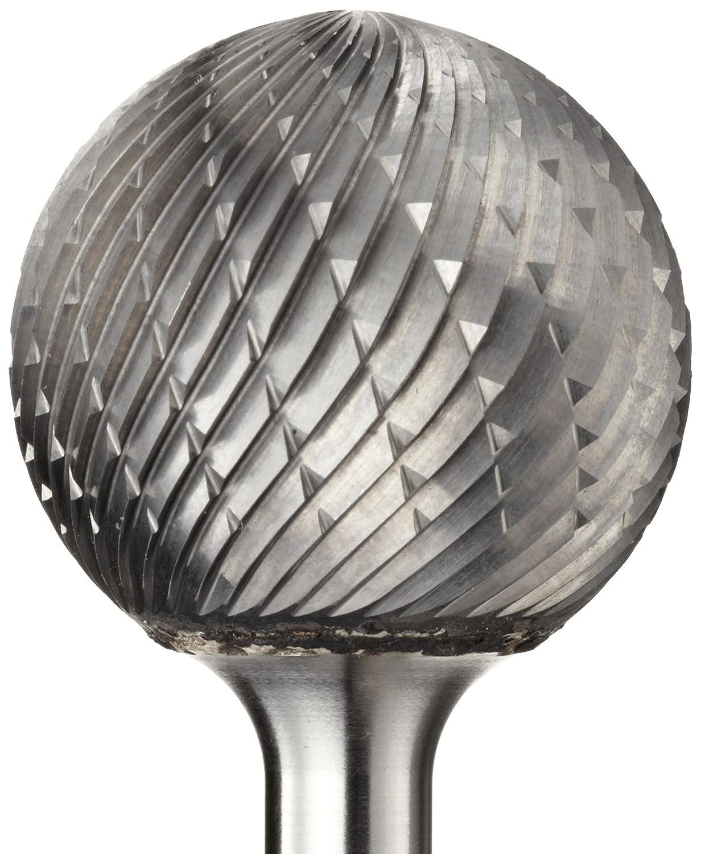 "1//4/"" Diameter 1//4/"" Shank Spherical Ball Carbide Burr Double Cut SD-1"