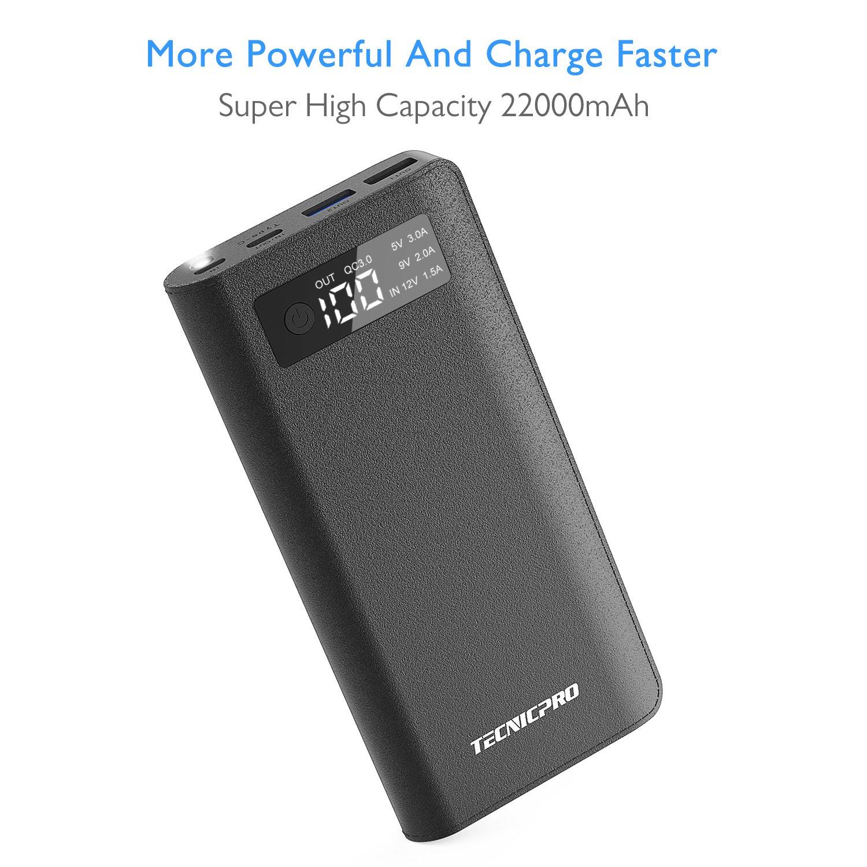Amazoncom Tecnicpro Portable Charger USB C QC30