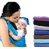 Baby Sling Carrier by feven- 100% panno di cotone fascianti Snug & Secure- comodo resistente all' usura Adatto a qualsiasi telaio lavabile in lavatrice wraps- Best Vettori e Imbracature per un neonato, neonati o bambini