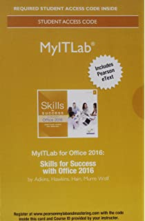 Skills for success with microsoft office 2016 volume 1 skills for mylab it with pearson etext access card for skills for success with fandeluxe Images