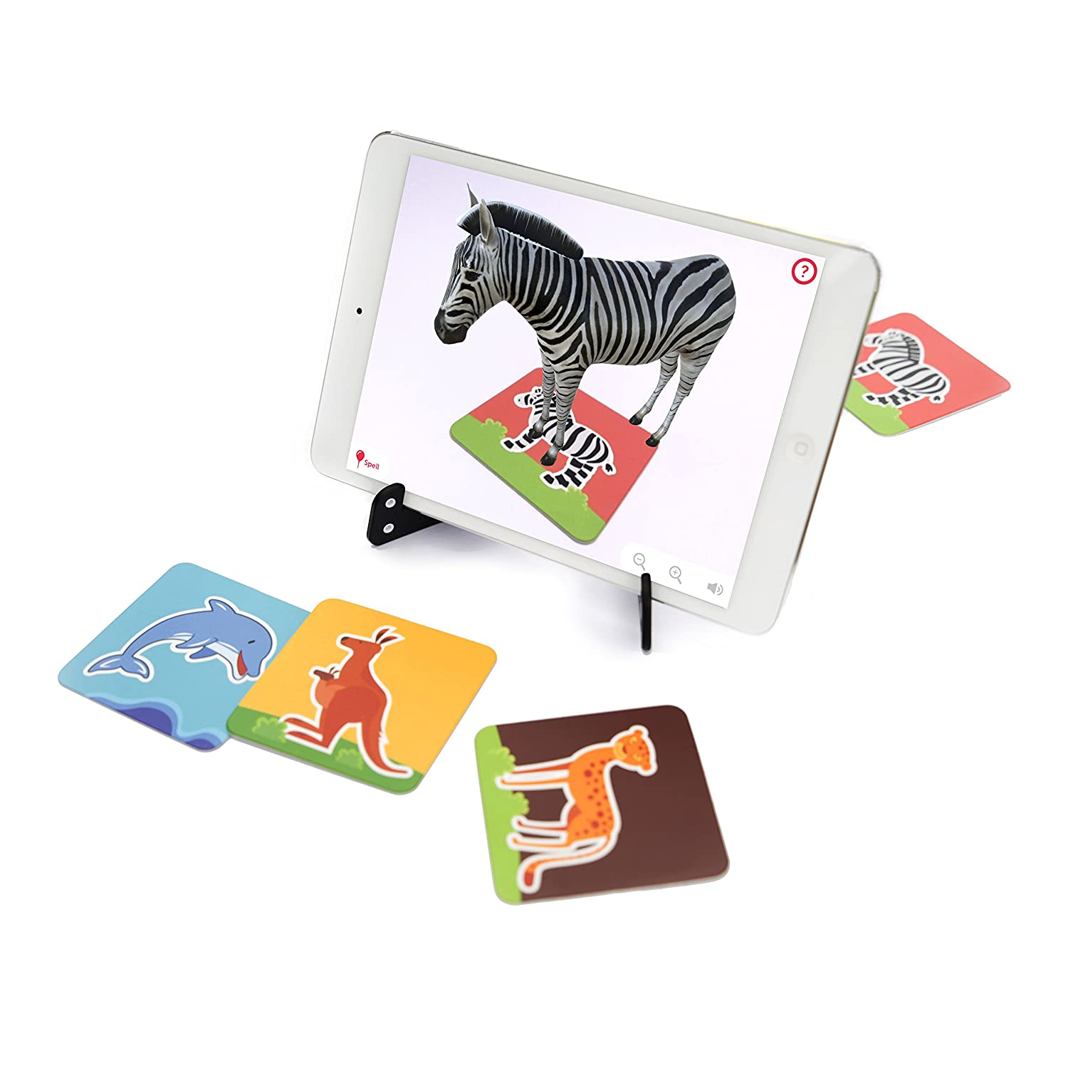 Preschool Girls and Boys 2 to 10 years Learning Toy For Toddles Augmented Reality Based Game Ideal Kids Gift 60 Animal Safari Flashcards Shifu Safari: 4D Educational