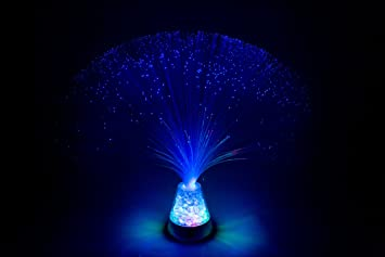 Funtime Gifts - Lámpara de Fibra óptica, Color Azul