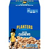 PLANTERS Salted Cashews, 1.5 oz. Bags (18 Pack) - Individually Packed Snacks On the Go - Snacks for Adults - Quick Snacks - K