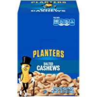 PLANTERS Salted Cashews, 1.5 oz. Bags (18 Pack) - Individually Packed Snacks On the Go - Snacks for Adults - Quick Snacks - Kosher