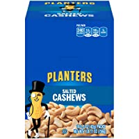 PLANTERS Salted Cashews, 1.5 oz. Bags (18 Pack) - Individually Packed Snacks On...