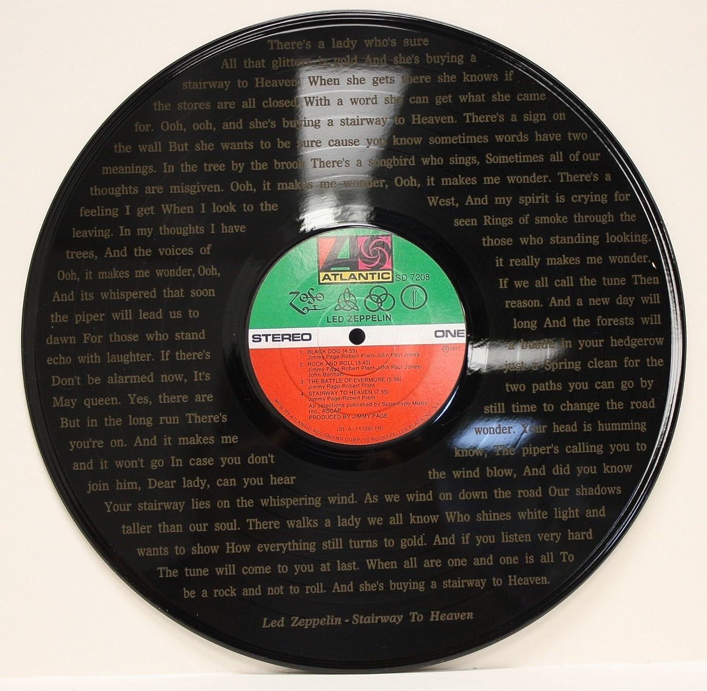 Led Zeppelin Vinyl Lp Etched W/Stairway To Heaven Lyrics Ltd Edition Wall Art