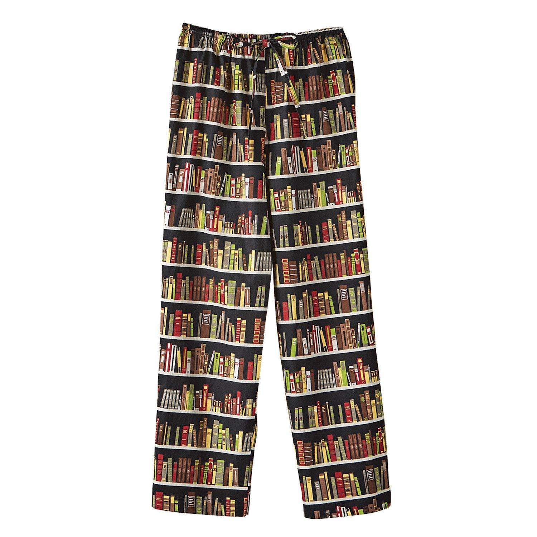CATALOG CLASSICS Woman's Library Print Lounge Pants - Capri Length Book Print