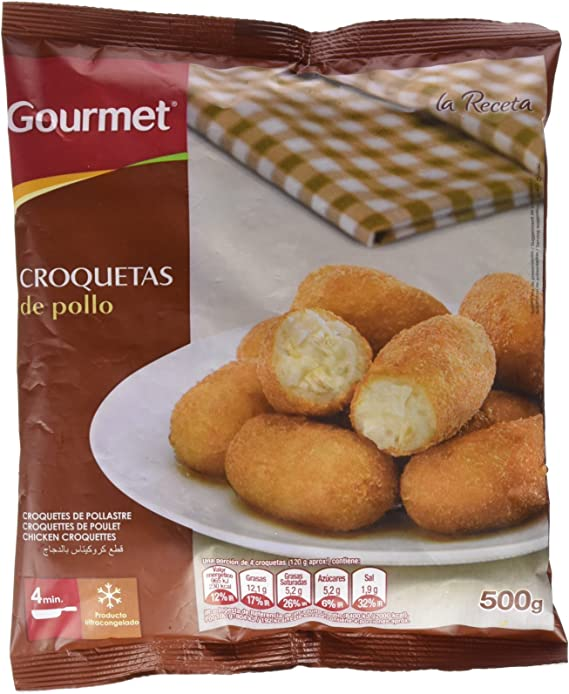 Gourmet - Croqueta De Pollo - 500 g: Amazon.es: Alimentación y bebidas