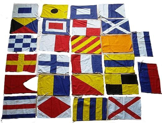 Marine Product Código Internacional Banderas/Bandera – Set de 26 Total Bandera – -100% algodón – Marítimo náutico (5042): Amazon.es: Jardín