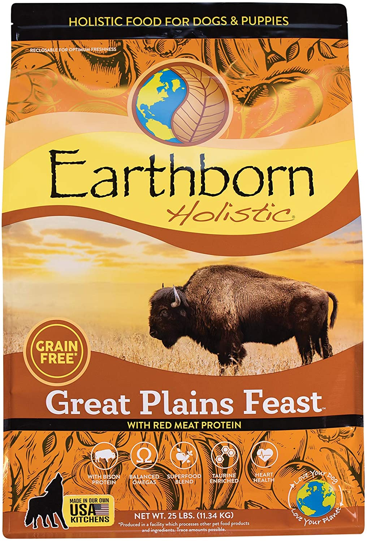 Earthborn Holistic Great Plains Feast Grain-Free Natural Dry Dog Food, 25 lb