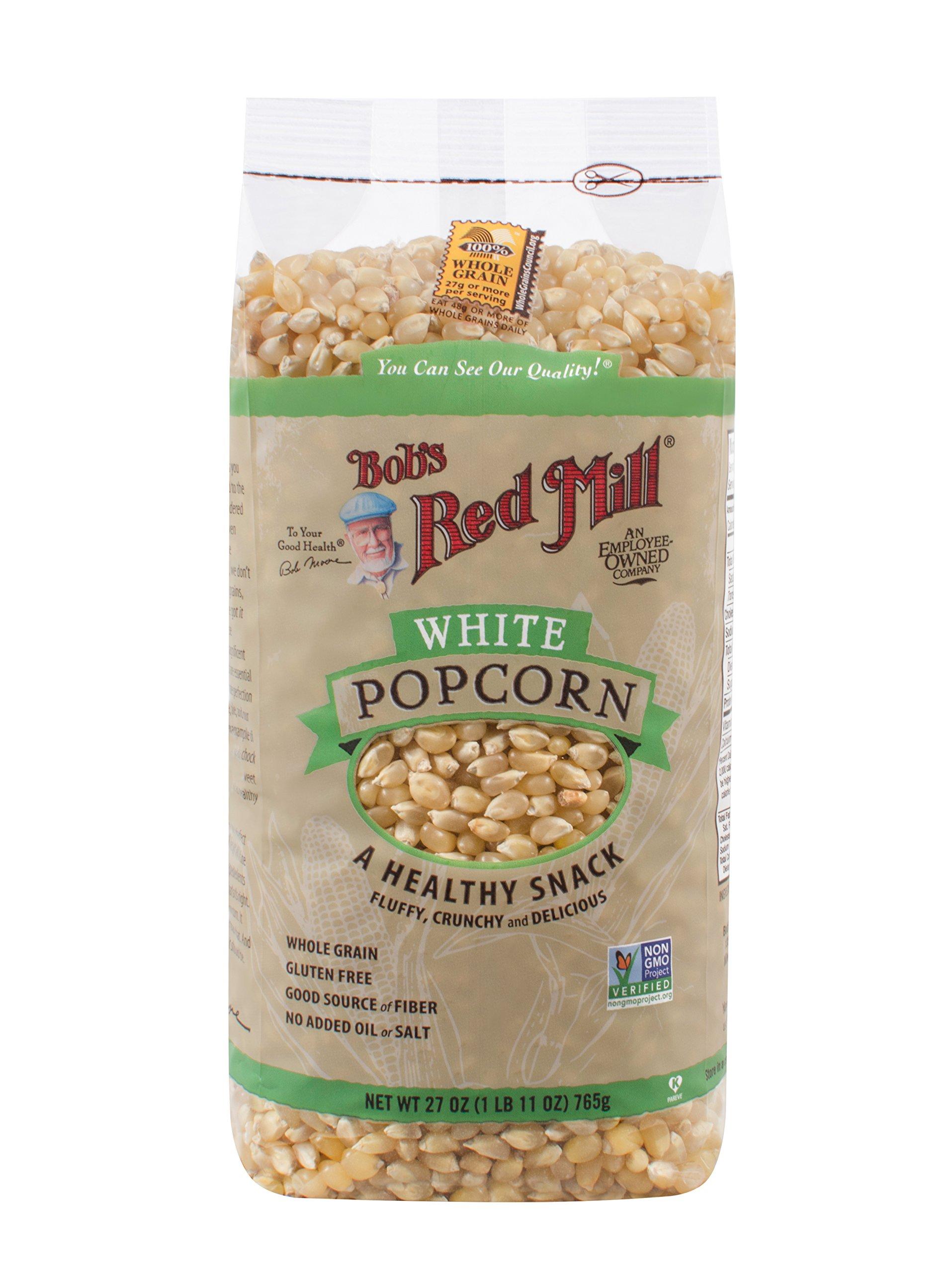 Bobs Red Mill White Popcorn, 27 Ounce - 4 per case.