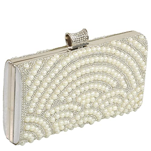a01b85d8758 24X7 Emall Women s Clutch (Pearl Diamond Silver
