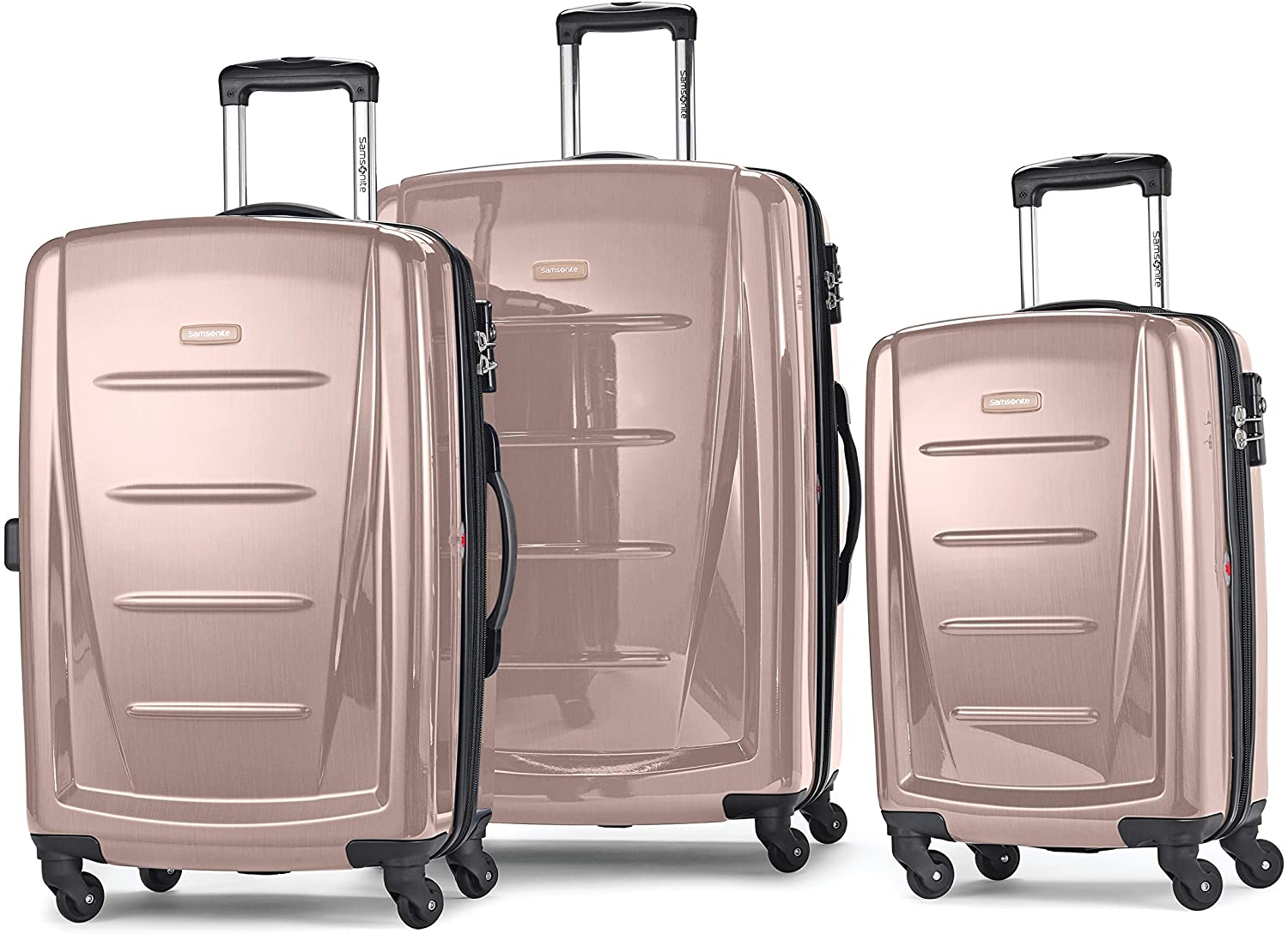 Samsonite Winfield 2 Hardside Expandable Luggage with Spinner Wheels, Artic Pink, 3-Piece Set (20/24/28)