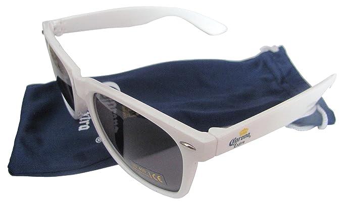 Corona Extra Beer weiße Sonnenbrille mit Stoffbeutel UV 400 Categorie 3