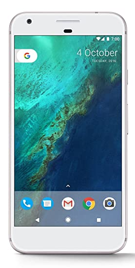 Google Pixel XL (Very Silver, 128GB) Smartphones at amazon