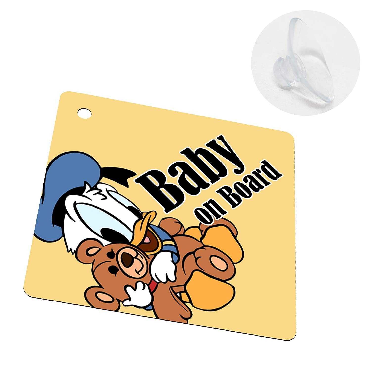 I-CHOOSE LIMITED Baby Car Windows Sign Sticker Single Sided with Suction Cup Baby on Board Kids Sign for Boys and Girls