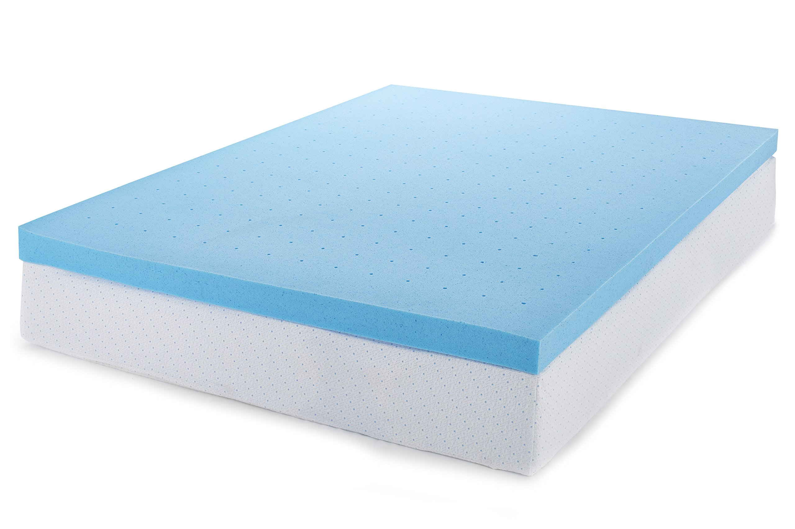 ViscoSoft 3 Inch Memory Foam Mattress Topper Twin | Select High Density Ventilated Mattress Pad