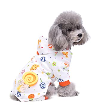 Smoro Lindo Perro Mascota Ropa Pijamas Abrigo Mono Cachorros Mamelucos algodón 20 Patrones / 5 tamaños
