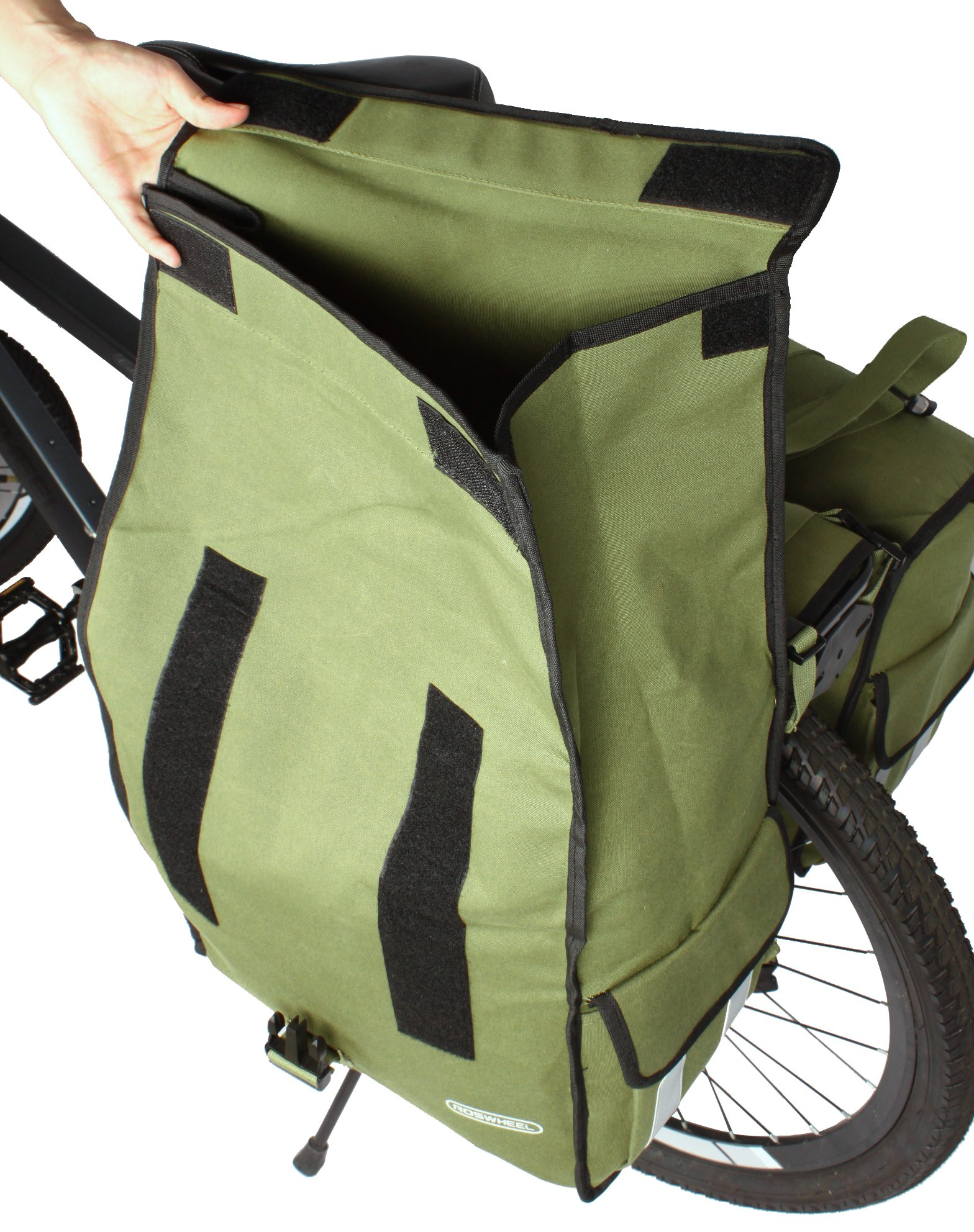 Roswheel 14686 Expedition Series Bike Rear Rack Bag Bicycle Double Panniers Cargo Trunk Bag by Roswheel (Image #5)