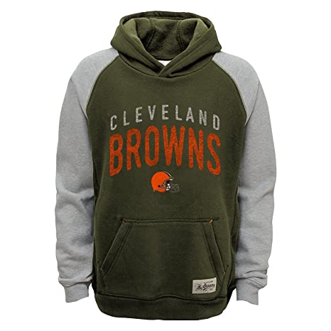 reputable site c6693 52ae2 Outerstuff NFL Cleveland Browns Boys Foundation Hoodie, Brown Suede, Large  (14-16)