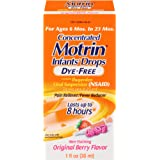 Infants' Motrin Concentrated Drops, Fever Reducer, Ibuprofen, Dye Free, Berry Flavored, 1 Oz
