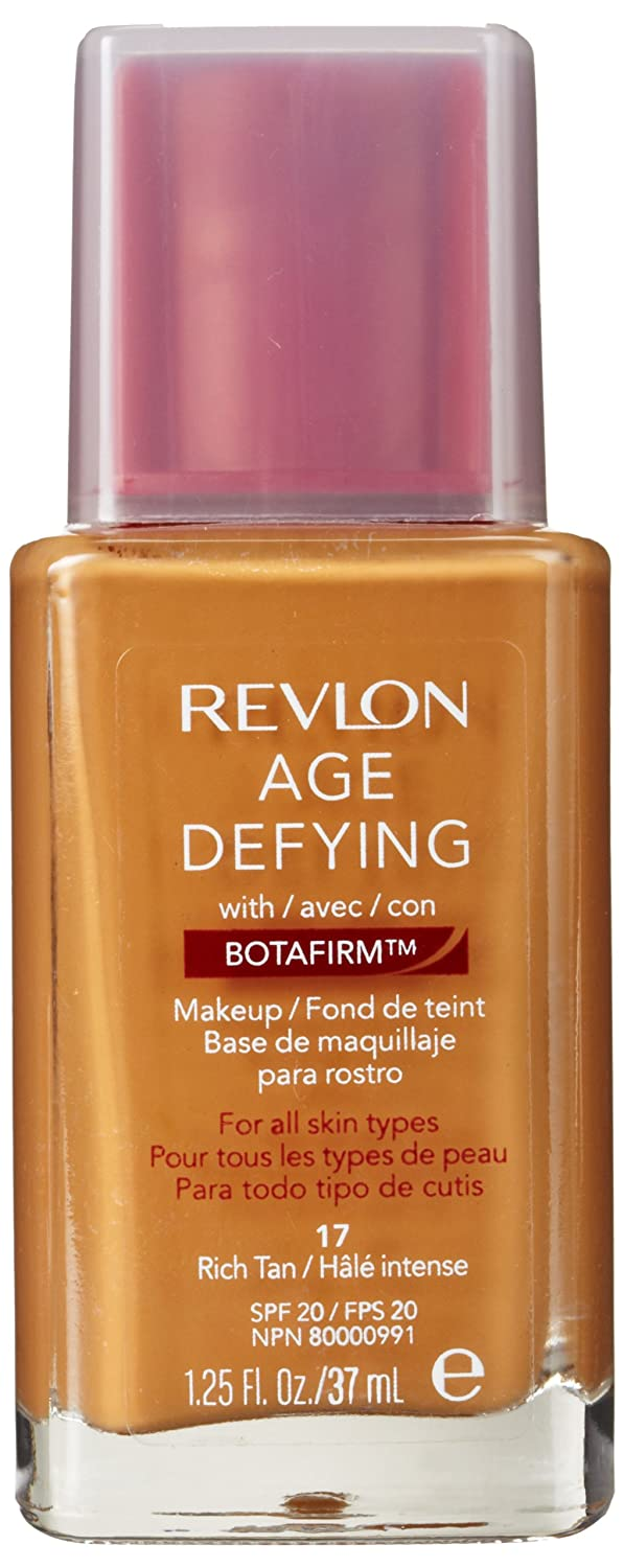 Revlon Age Defying Makeup with Botafirm, SPF 20, Normal/Combination Skin, Rich Tan 17, 1.25 Ounce (Pack of 2)