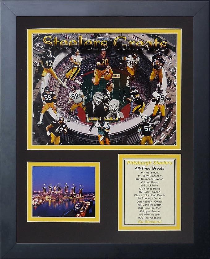 Leyendas nunca mueren Pittsburgh Steelers grandes foto enmarcada ...