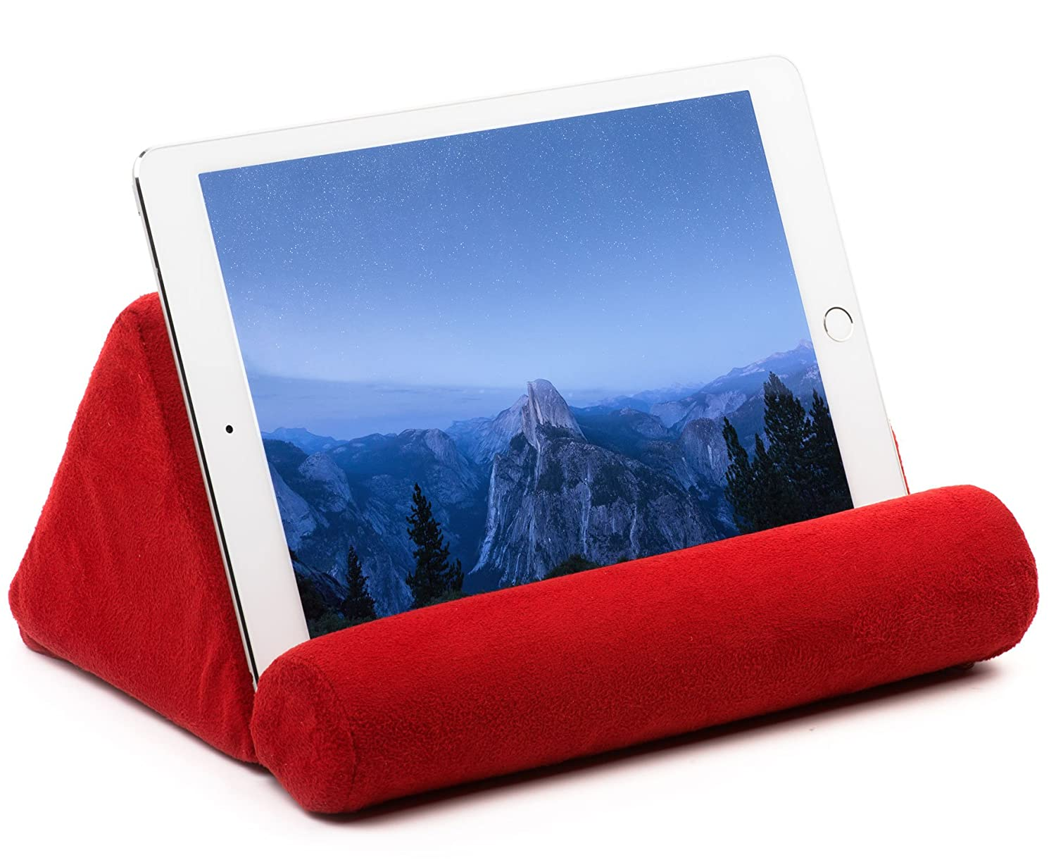 Bed rest pillow walmart - Tablet Pillow For Galaxy And Ipad Plush Microfiber Mini Tablet Computer Holder Sofa Reading Stand Self Standing Or Use On Lap Bed Sofa Couch Color Red