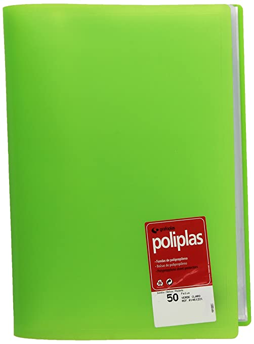 Amazon.com : grafoplas 1155710 Folder with 50 Sleeves, Green ...