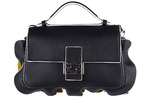 32482174d752 Fendi women s leather shoulder bag original doppia micro baguette calfskin  dolce  Amazon.ca  Shoes   Handbags