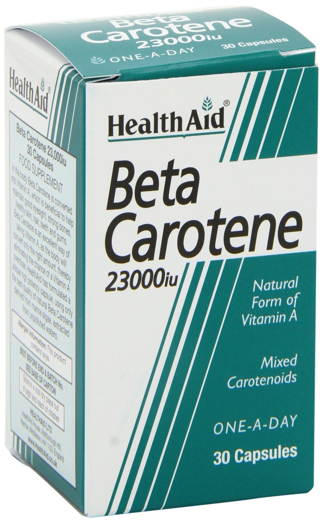 Health Aid Beta-Carotene (Natural) 15mg 30 Capsules