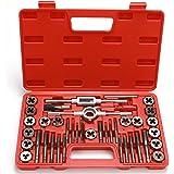 40-Piece Premium Tap and Die Set - Metric Size M3, M4, M5, M6, M7, M8, M10, M12, Both Coarse and Fine Teeth   Essential Threa