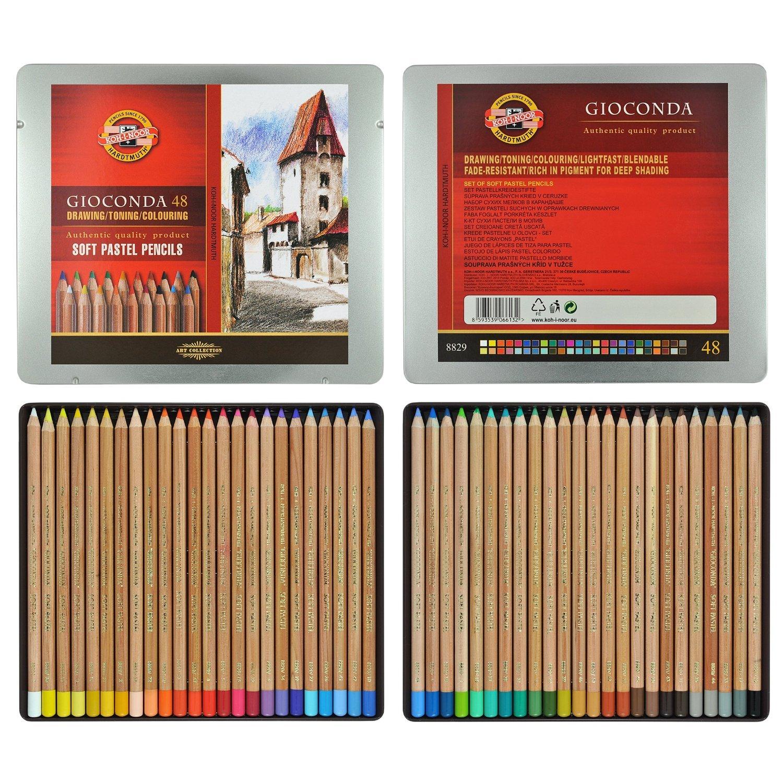 Koh-i-noor Gioconda - 48 Soft Pastel Pencils. 8829 by Koh-I-Noor (Image #1)