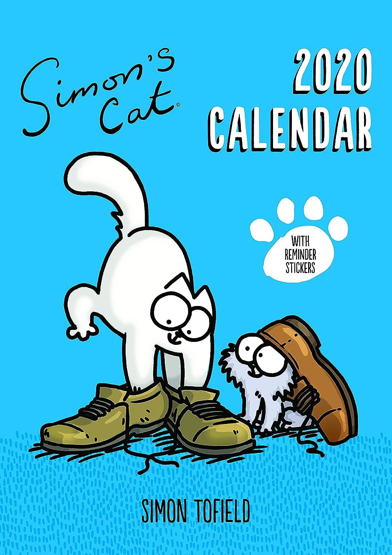 Simon's Cat - 2020 Familienkalender mit Erinnerungsaufklebern und Kunstwerken