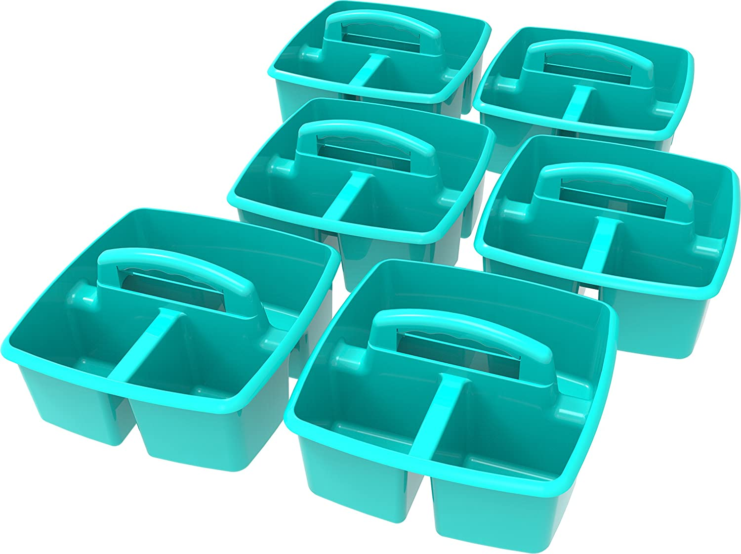 Storex Classroom Caddy, 9.25 x 9.25 x 5.25, Blue, Case of 6 (00947E06C) 9.25 x 9.25 x 5.25 Storex Industries Corp.