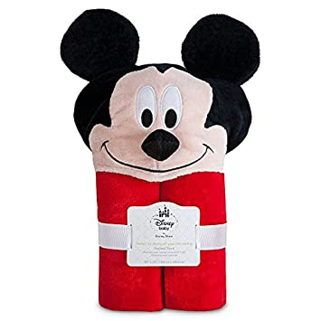 1cda250d5 Amazon.com   Disney Mickey Mouse Hooded Towel for Baby Toddlers Boys ...