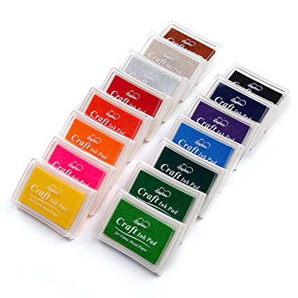 Amazon Com Lsushine Craft Ink Pad Stamps Partner Diy Color 15 Color