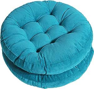Tiita Floor Cushions Blue Seat Cushion Pillows 22