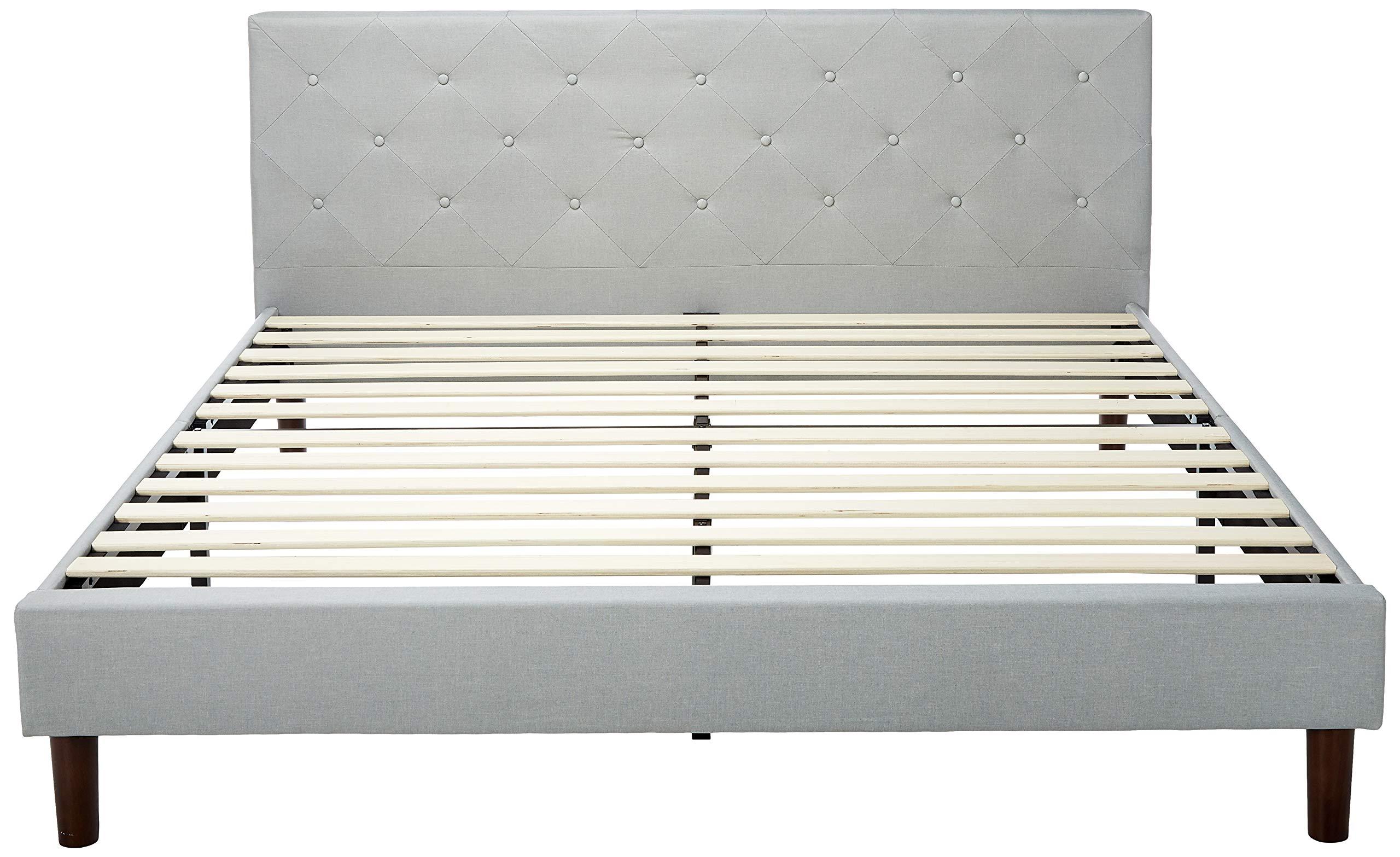 ZINUS Shalini Upholstered Platform Bed Frame with ZINUS 10 Inch Memory Foam Spring Hybrid Mattress