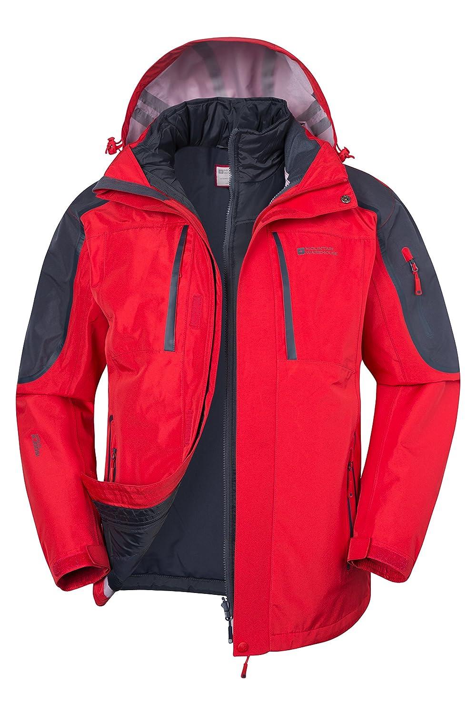 Mountain Warehouse Zenith Extreme Mens 3 in 1 Waterproof Jacket