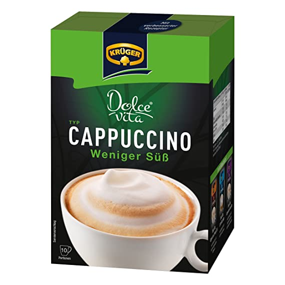 Krüger Dolce Vita Cappuccino, Bajo en Azúcar, Café con Leche, Café con Leche