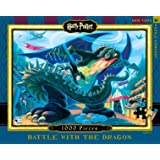 New York Puzzle Company - Harry Potter Battle with the Dragon - 1000 Piece Jigsaw Puzzle