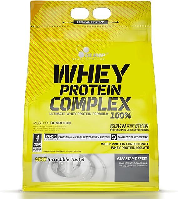 Olimp Sport Nutrition Proteína Whey Protein Complex con Sabor 100% Crema de Galletas - 2.27 kg