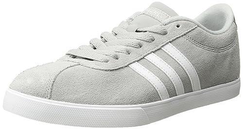 new style 703b1 df905 adidas neo Womens Courtset W Sneaker, Light OnixWhiteMetallic Silver, 5.5