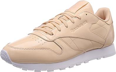 Reebok Cl LTHR Patent Chaussures de Running Femme