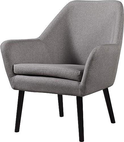 Versanora Divano Armchair – Grey, 27.5 x 28.25 x 33 , Grey, Grey