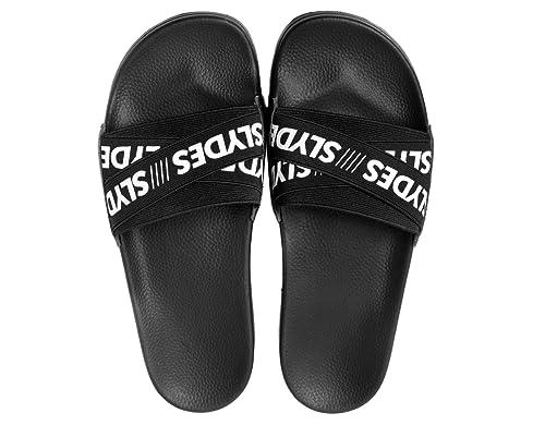 309198bb58b3a7 Slydes Malibu Black Men s Slider Sandals US8