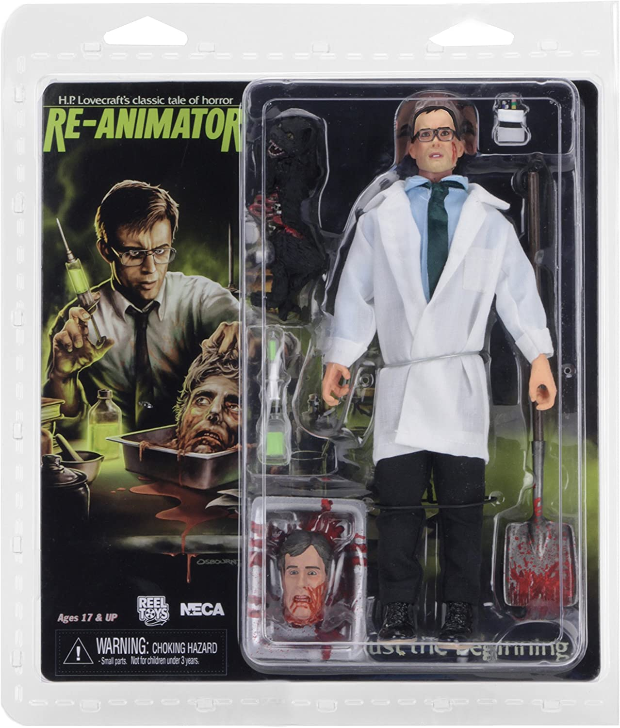 "Herbert West Re-Animator 8"" Clothed Action Figure NECA"