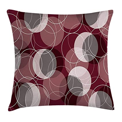 Amazon Maroon Throw Pillow Cushion Cover By Retro Skinny Ring Amazing Long Skinny Decorative Pillows
