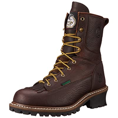Georgia G7113 Mid Calf Boot, Chocolate, 11 W US | Industrial & Construction Boots